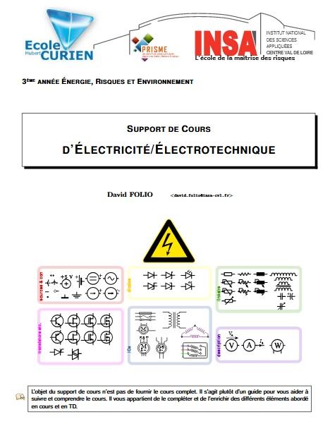 Support de cours électricité électrotechnique