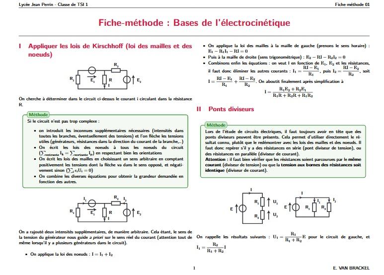 Les Bases de l'électrocinétique