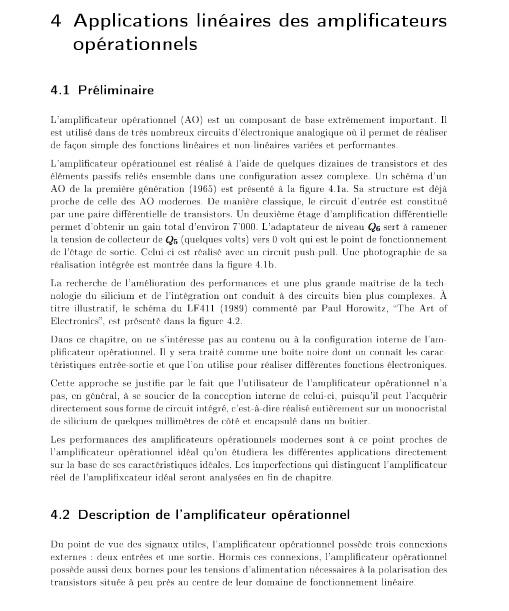 Applications linéaires des amplificateurs opérationnels