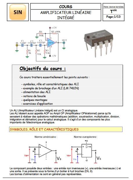 Amplificateur linéaire intégré